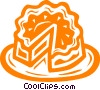 Vector Clip Art graphic  of a cake