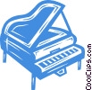 grand piano Vector Clip Art picture