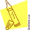 Vector Clipart graphic  of a marker