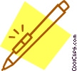 computer pen Vector Clipart illustration