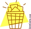 Vector Clipart graphic  of a waste basket