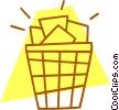 waste basket Vector Clip Art image