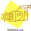 Vector Clipart graphic  of a video camera