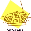 Vector Clip Art graphic  of a portable CD player