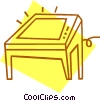 light table Vector Clipart illustration