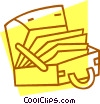 Vector Clipart graphic  of a briefcase with file folders
