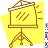 Vector Clip Art picture  of a portable movie screen