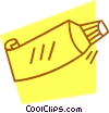 tube of toothpaste Vector Clipart image