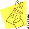 Vector Clip Art picture  of a spray can
