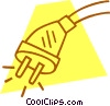Vector Clip Art image  of a electrical plug