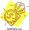 coins Vector Clipart graphic