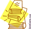 stack of books Vector Clip Art graphic
