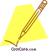 Vector Clipart image  of a pencil
