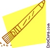 pencil with an eraser Vector Clipart picture