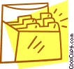 Vector Clipart image  of a index cards