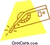 Vector Clip Art picture  of a label maker