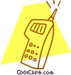 cell phone Vector Clip Art picture