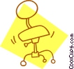 Vector Clipart illustration  of a office chair