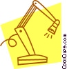 Vector Clip Art picture  of a desk lamp