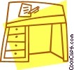 office desk Vector Clipart graphic