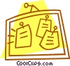 Vector Clipart graphic  of a message board