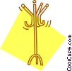 Vector Clip Art image  of a coat rack