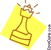 Vector Clipart illustration  of a chess piece