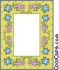 Vector Clipart illustration  of a decorative floral border