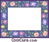 Vector Clip Art image  of a floral border
