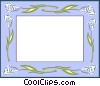 Vector Clip Art picture  of a floral border