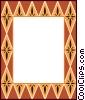 Vector Clipart image  of a decorative design border