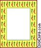 Vector Clipart picture  of a border of red and green