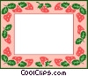 Vector Clipart graphic  of a strawberry border