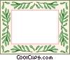 Vector Clip Art image  of a green leaf border