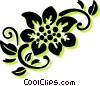 decorative floral elements Vector Clipart illustration