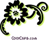 decorative floral elements Vector Clip Art picture