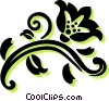 Vector Clipart graphic  of a decorative floral elements