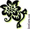 Vector Clipart illustration  of a decorative floral elements