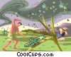 Vector Clipart image  of a Plague of Locusts