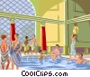 Vector Clip Art image  of a Roman baths