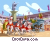 The Circus Maximus Chariot races Vector Clip Art picture