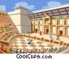 Vector Clip Art graphic  of a Roman Amphitheatre