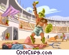 Gladiators battle in the coliseum Vector Clipart image