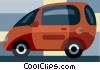 Vector Clip Art image  of a mini van