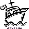 Vector Clipart graphic  of a yacht