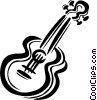 acoustic guitar Vector Clipart picture