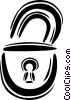 padlock Vector Clipart illustration