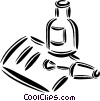 Vector Clipart image  of a correction fluid with paper