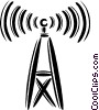 Vector Clipart image  of a communication tower