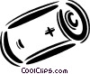 Vector Clipart graphic  of a small battery